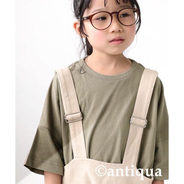 Tシャツ キッズ 綿100% カットソー 無地 アンティカ・3月30日0時〜再再販。メール便不可 TOY|antiqua|24