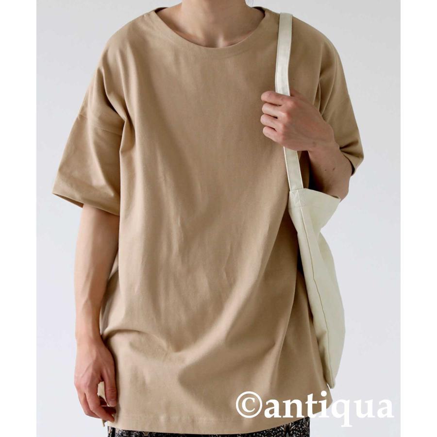 トップス プルオーバー メンズ 五分袖 綿 綿100% バスクTシャツ・3月5日0時〜再再販。メール便不可|antiqua|28