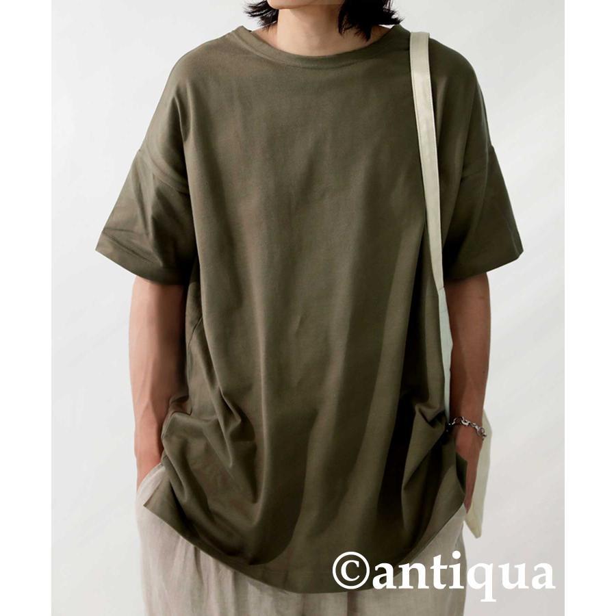 トップス プルオーバー メンズ 五分袖 綿 綿100% バスクTシャツ・3月5日0時〜再再販。メール便不可|antiqua|25