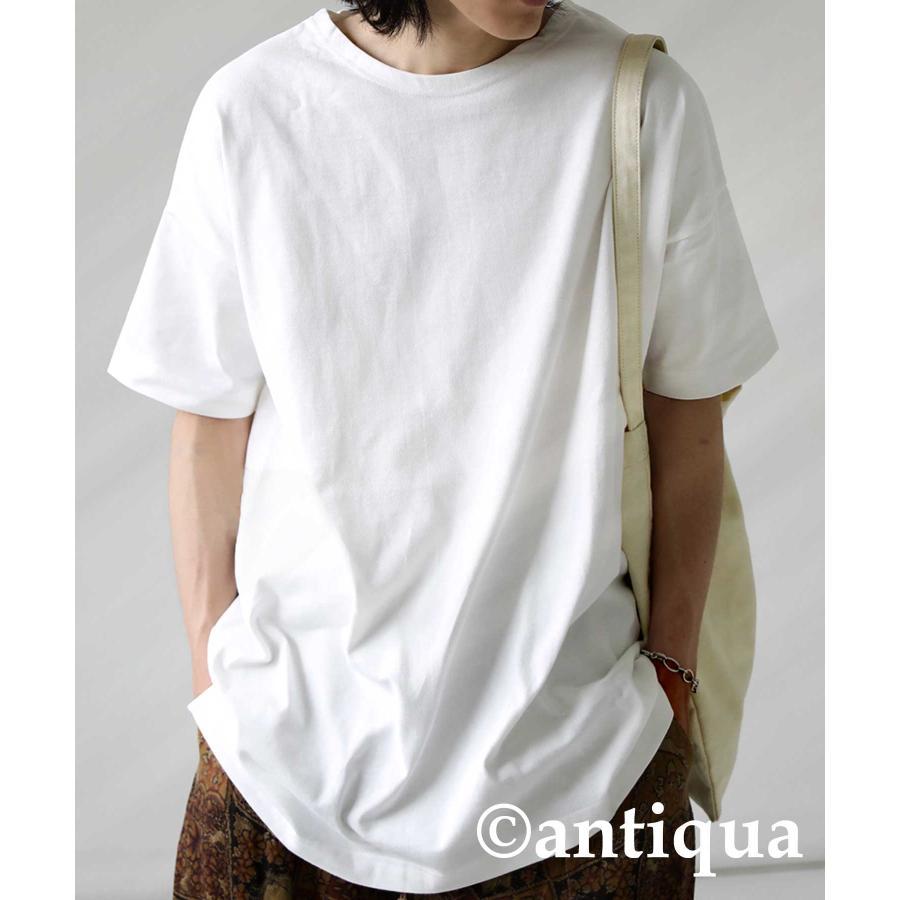 トップス プルオーバー メンズ 五分袖 綿 綿100% バスクTシャツ・3月5日0時〜再再販。メール便不可|antiqua|23