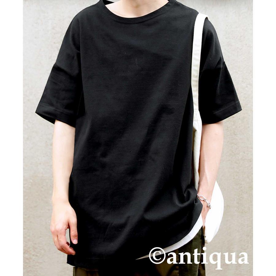 トップス プルオーバー メンズ 五分袖 綿 綿100% バスクTシャツ・3月5日0時〜再再販。メール便不可|antiqua|22