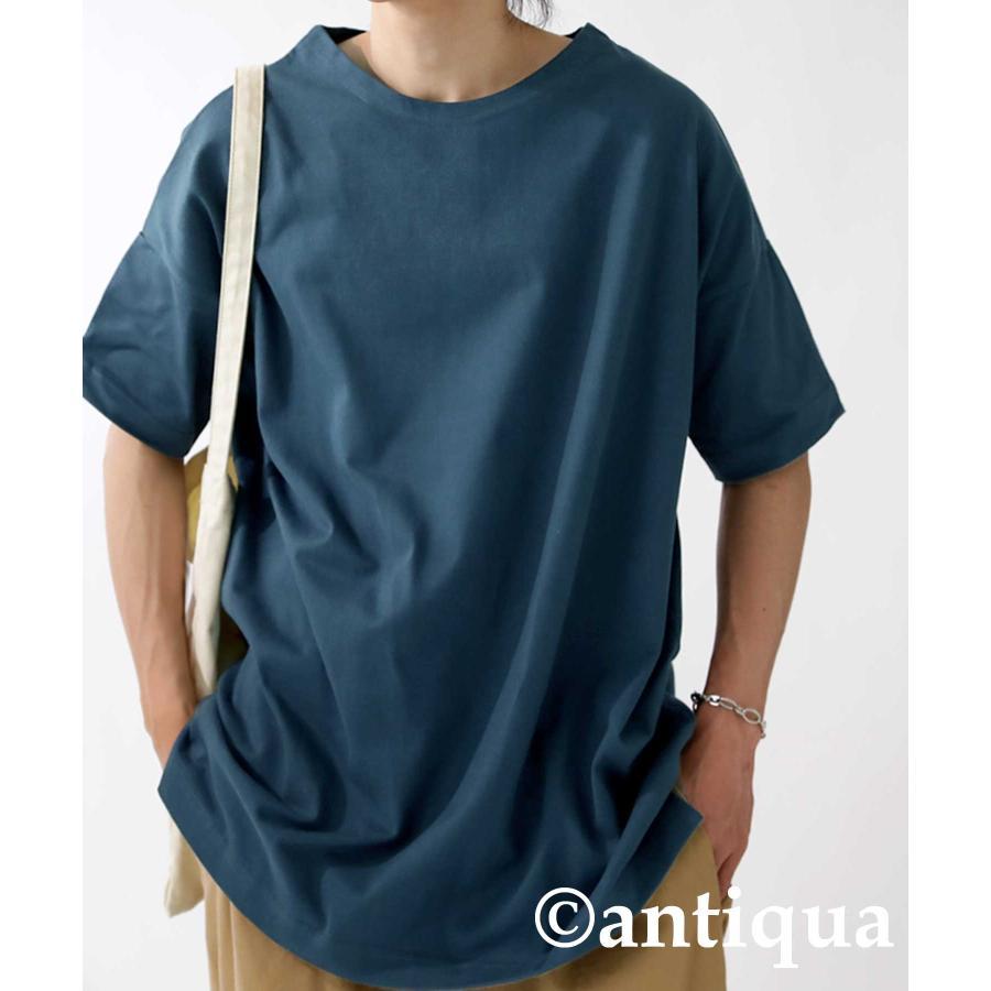 トップス プルオーバー メンズ 五分袖 綿 綿100% バスクTシャツ・3月5日0時〜再再販。メール便不可|antiqua|34