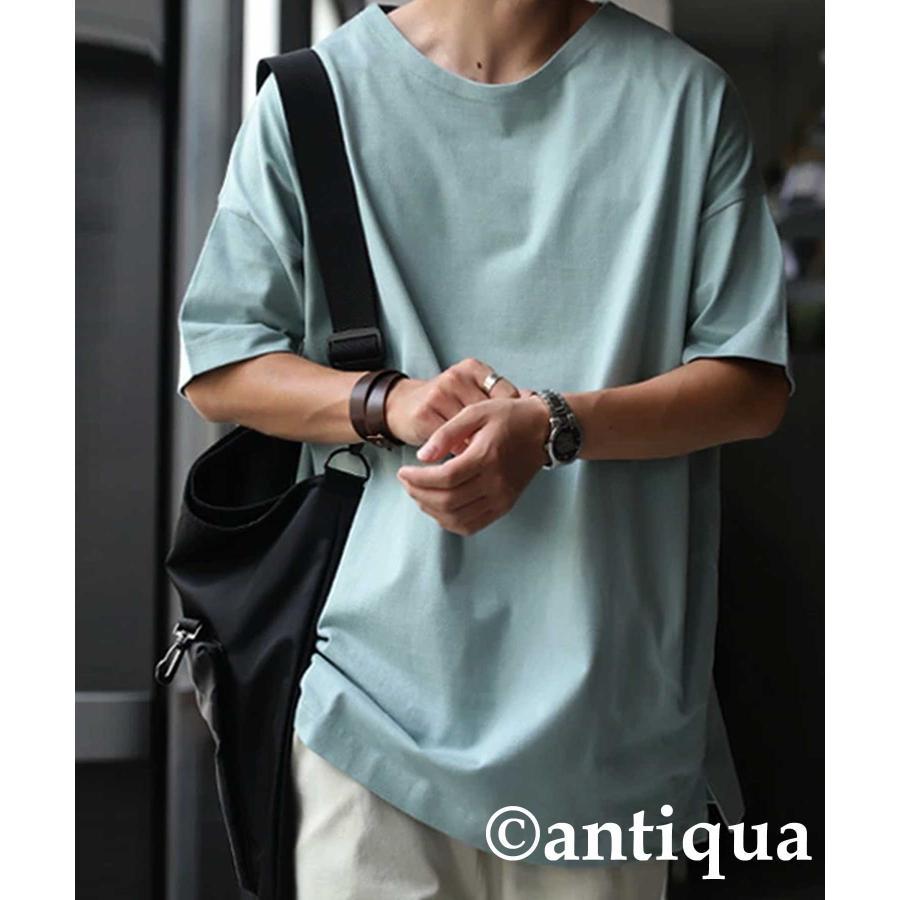 トップス プルオーバー メンズ 五分袖 綿 綿100% バスクTシャツ・3月5日0時〜再再販。メール便不可|antiqua|31