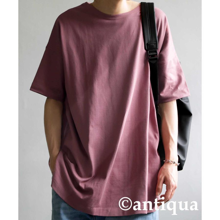 トップス プルオーバー メンズ 五分袖 綿 綿100% バスクTシャツ・3月5日0時〜再再販。メール便不可|antiqua|35