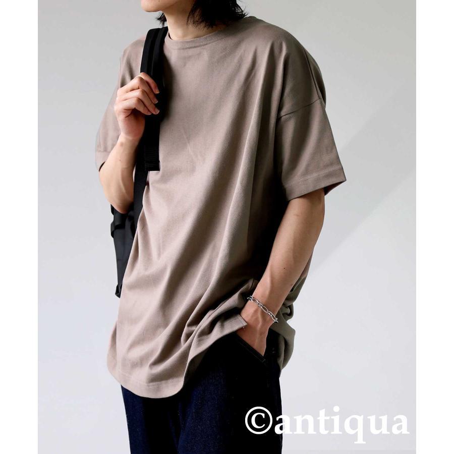 トップス プルオーバー メンズ 五分袖 綿 綿100% バスクTシャツ・3月5日0時〜再再販。メール便不可|antiqua|29
