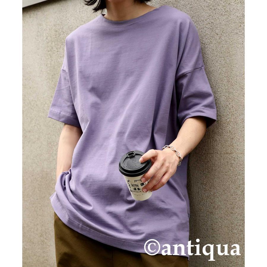トップス プルオーバー メンズ 五分袖 綿 綿100% バスクTシャツ・3月5日0時〜再再販。メール便不可|antiqua|32
