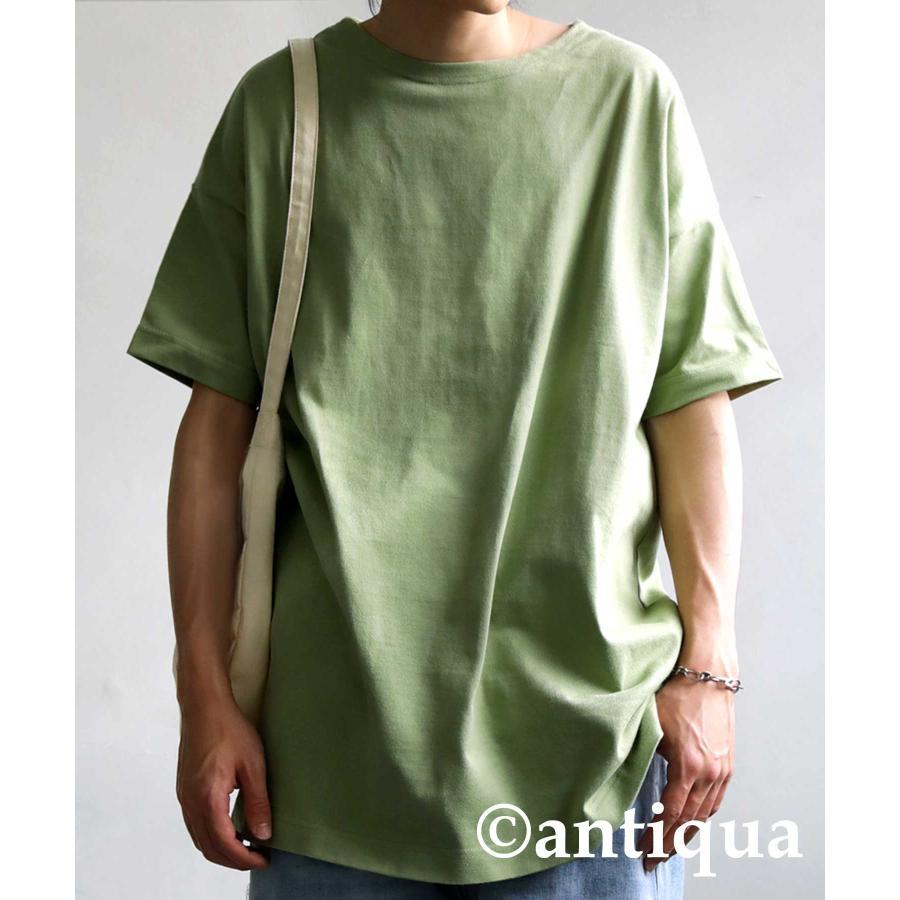トップス プルオーバー メンズ 五分袖 綿 綿100% バスクTシャツ・3月5日0時〜再再販。メール便不可|antiqua|27