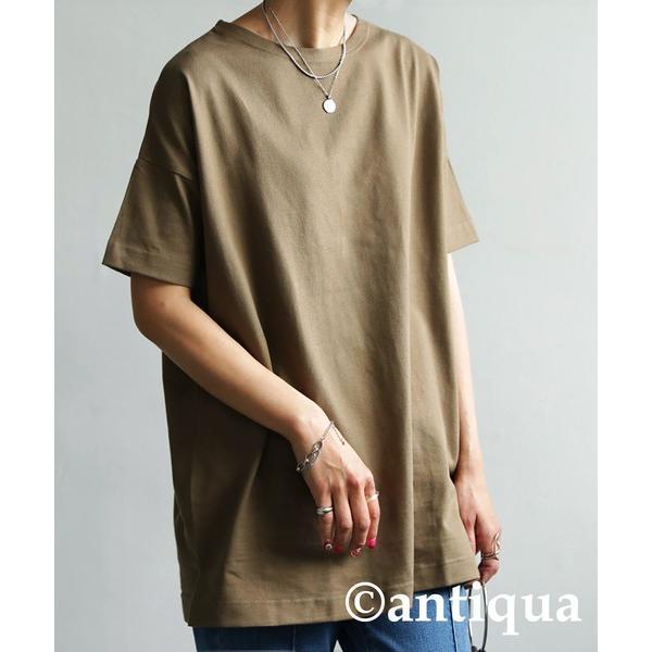 Tシャツ レディース トップス ゆったり プルオーバー 五分袖 綿100% 大きいサイズ・3月5日0時〜再再販。メール便不可 母の日|antiqua|25