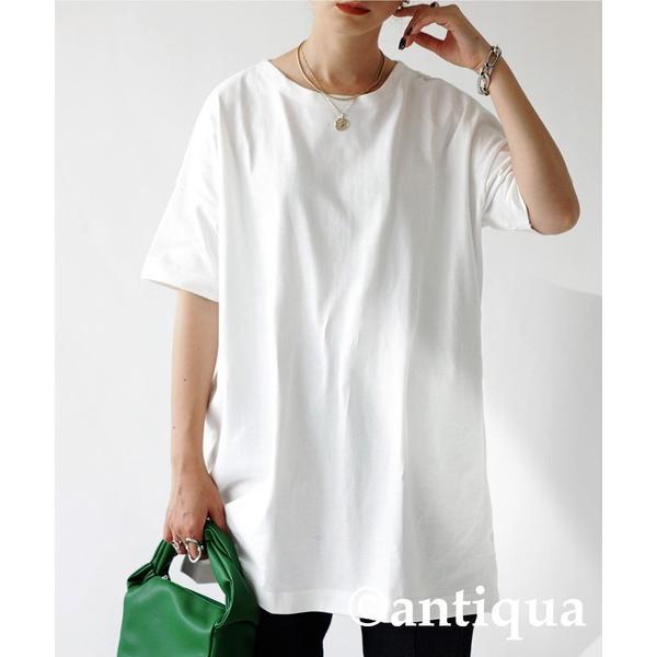 Tシャツ レディース トップス ゆったり プルオーバー 五分袖 綿100% 大きいサイズ・3月5日0時〜再再販。メール便不可 母の日|antiqua|23