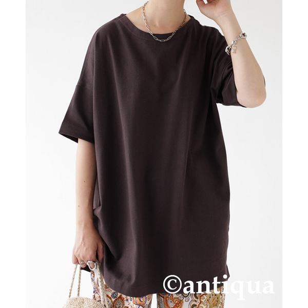 Tシャツ レディース トップス ゆったり プルオーバー 五分袖 綿100% 大きいサイズ・3月5日0時〜再再販。メール便不可 母の日|antiqua|30
