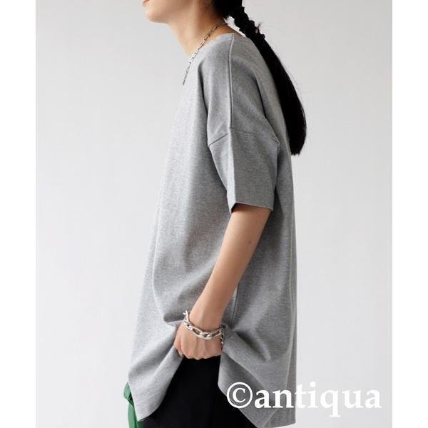 Tシャツ レディース トップス ゆったり プルオーバー 五分袖 綿100% 大きいサイズ・3月5日0時〜再再販。メール便不可 母の日|antiqua|26