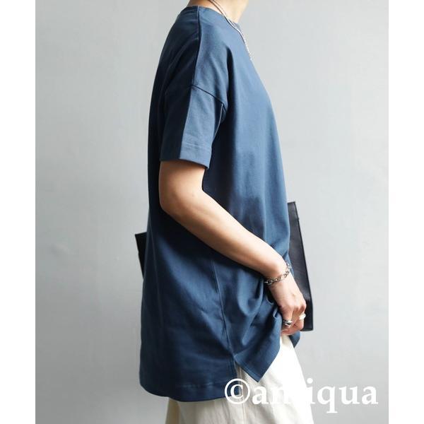 Tシャツ レディース トップス ゆったり プルオーバー 五分袖 綿100% 大きいサイズ・3月5日0時〜再再販。メール便不可 母の日|antiqua|34