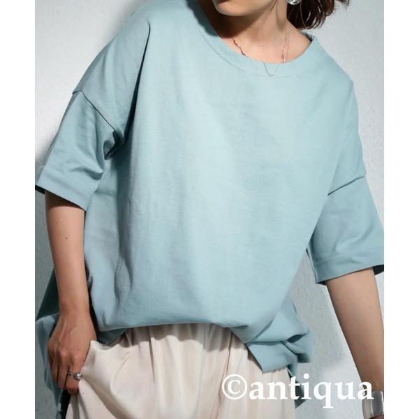 Tシャツ レディース トップス ゆったり プルオーバー 五分袖 綿100% 大きいサイズ・3月5日0時〜再再販。メール便不可 母の日|antiqua|31