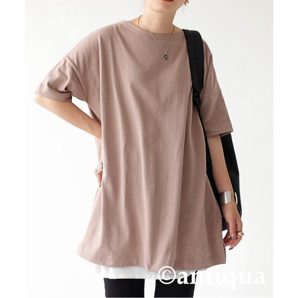 Tシャツ レディース トップス ゆったり プルオーバー 五分袖 綿100% 大きいサイズ・3月5日0時〜再再販。メール便不可 母の日|antiqua|29