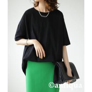 トップス Tシャツ メンズ 半袖 綿 クルーネックバスクT・100ptメール便可|antiqua|22