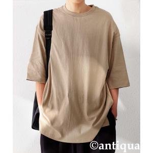 トップス Tシャツ メンズ 半袖 リブ 綿・8月5日0時〜再販。新色追加!既存色の発送は8/6〜 新色の発送は8/11〜。100ptメール便可 antiqua 26