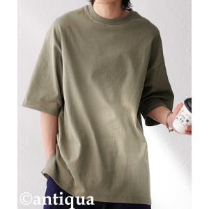 トップス Tシャツ メンズ 半袖 リブ 綿・8月5日0時〜再販。新色追加!既存色の発送は8/6〜 新色の発送は8/11〜。100ptメール便可 antiqua 31