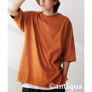 トップス Tシャツ メンズ 半袖 リブ 綿・8月5日0時〜再販。新色追加!既存色の発送は8/6〜 新色の発送は8/11〜。100ptメール便可 antiqua 29