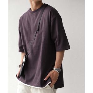 トップス Tシャツ メンズ 半袖 リブ 綿・8月5日0時〜再販。新色追加!既存色の発送は8/6〜 新色の発送は8/11〜。100ptメール便可 antiqua 25