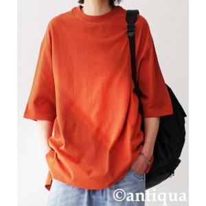 トップス Tシャツ メンズ 半袖 リブ 綿・8月5日0時〜再販。新色追加!既存色の発送は8/6〜 新色の発送は8/11〜。100ptメール便可 antiqua 34