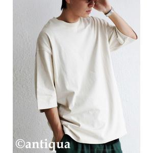 トップス Tシャツ メンズ 半袖 リブ 綿・8月5日0時〜再販。新色追加!既存色の発送は8/6〜 新色の発送は8/11〜。100ptメール便可 antiqua 23