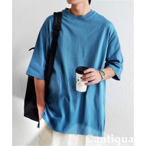 トップス Tシャツ メンズ 半袖 リブ 綿・8月5日0時〜再販。新色追加!既存色の発送は8/6〜 新色の発送は8/11〜。100ptメール便可 antiqua 27