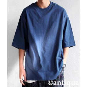 トップス Tシャツ メンズ 半袖 リブ 綿・8月5日0時〜再販。新色追加!既存色の発送は8/6〜 新色の発送は8/11〜。100ptメール便可 antiqua 28