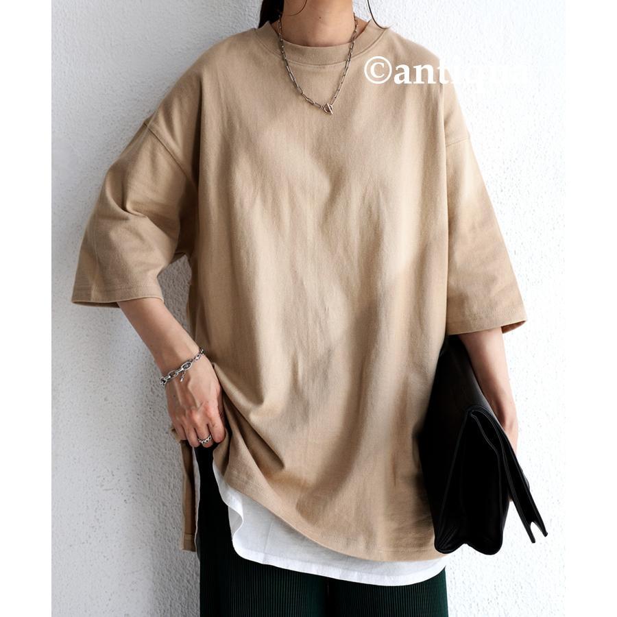ビッグシルエット Tシャツ レディース バスクT 綿100・9月19日10時〜再再販。メール便不可|antiqua|26