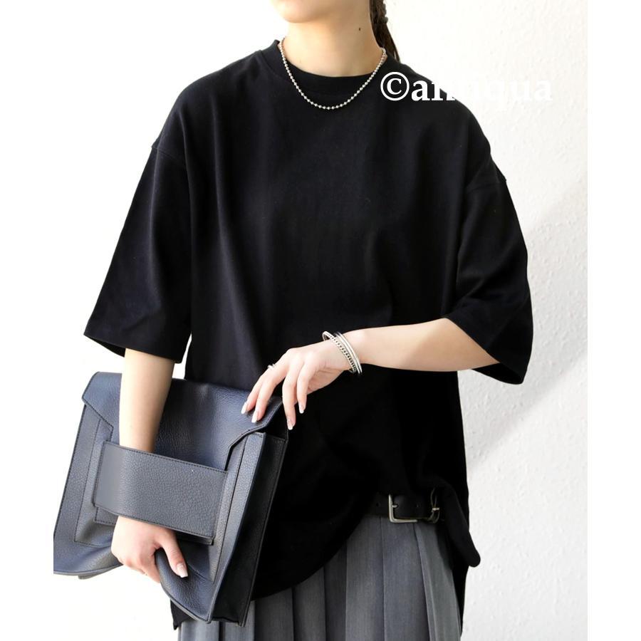ビッグシルエット Tシャツ レディース バスクT 綿100・9月19日10時〜再再販。メール便不可|antiqua|22