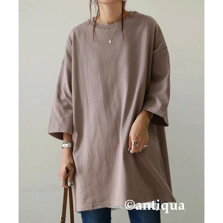 ビッグシルエット Tシャツ レディース バスクT 綿100・9月19日10時〜再再販。メール便不可|antiqua|30
