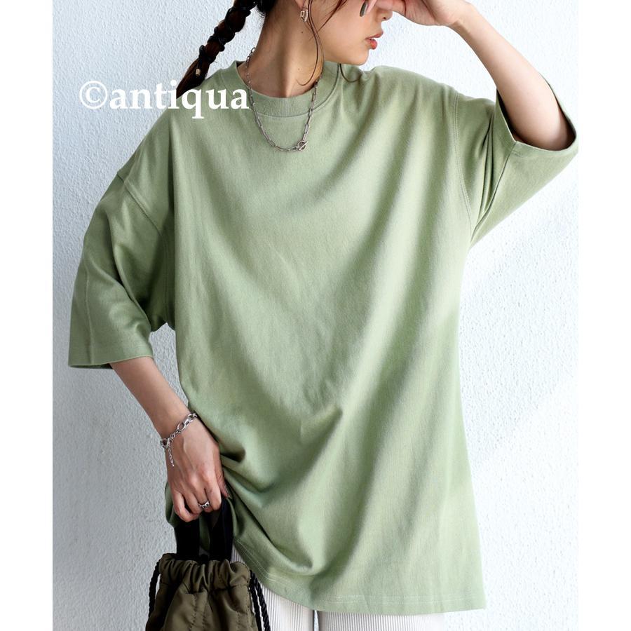 ビッグシルエット Tシャツ レディース バスクT 綿100・9月19日10時〜再再販。メール便不可|antiqua|33