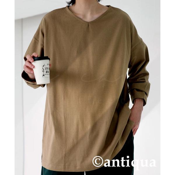 VネックバスクロンT ロンT メンズ トップス 長袖 綿・5月15日0時〜再再販。メール便不可|antiqua|25