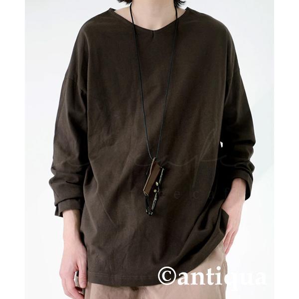 VネックバスクロンT ロンT メンズ トップス 長袖 綿・5月15日0時〜再再販。メール便不可|antiqua|26