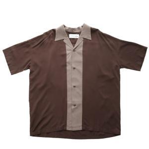 トップス シャツ メンズ 半袖 レーヨン バイカラー ユニセックス レトロバイカラーシャツ・メール便不可 antiqua 17