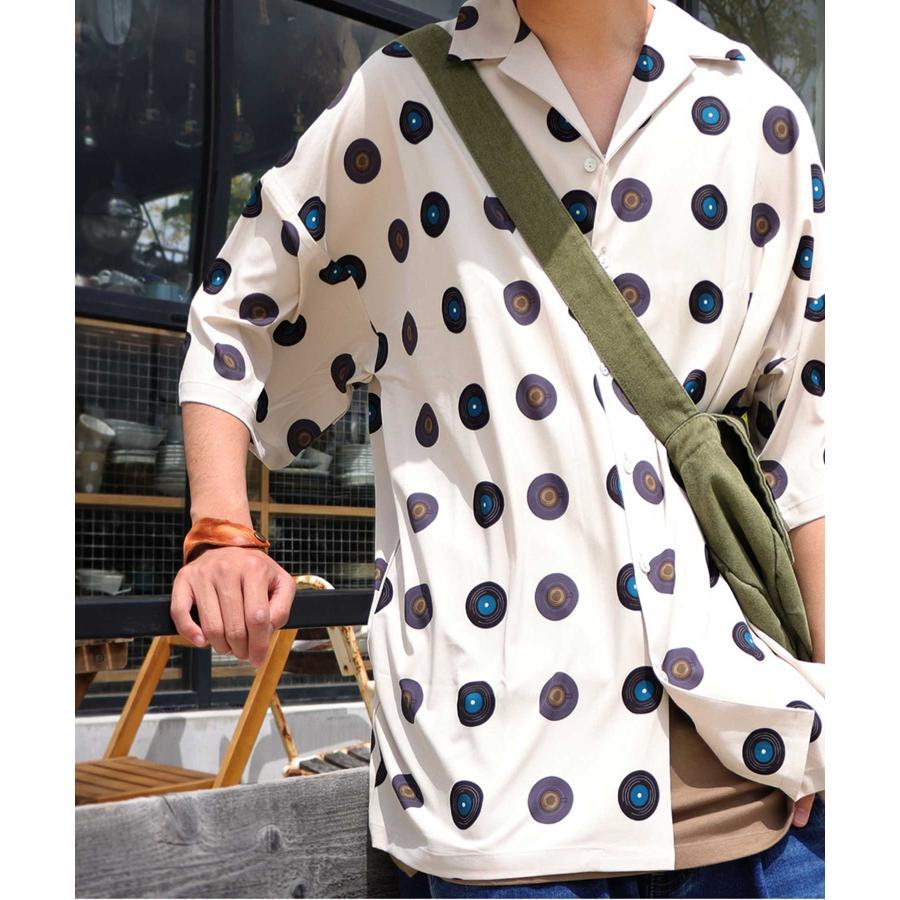 レコード柄開襟シャツ シャツ メンズ トップス 柄 送料無料・4月20日0時〜発売。メール便不可【MENS】|antiqua|27