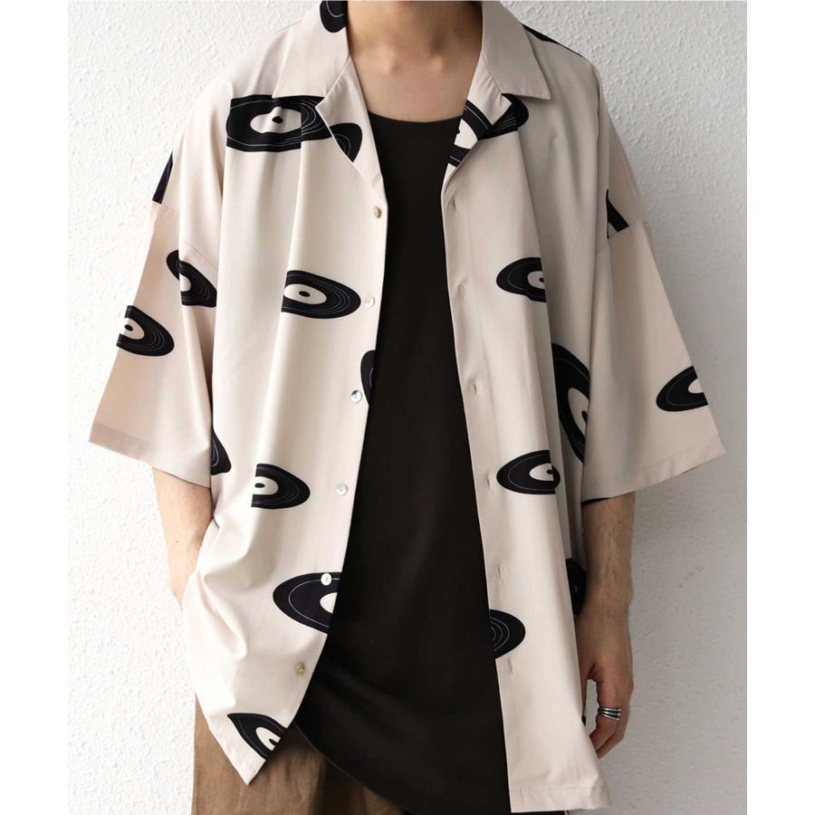 レコード柄開襟シャツ シャツ メンズ トップス 柄 送料無料・4月20日0時〜発売。メール便不可【MENS】|antiqua|25