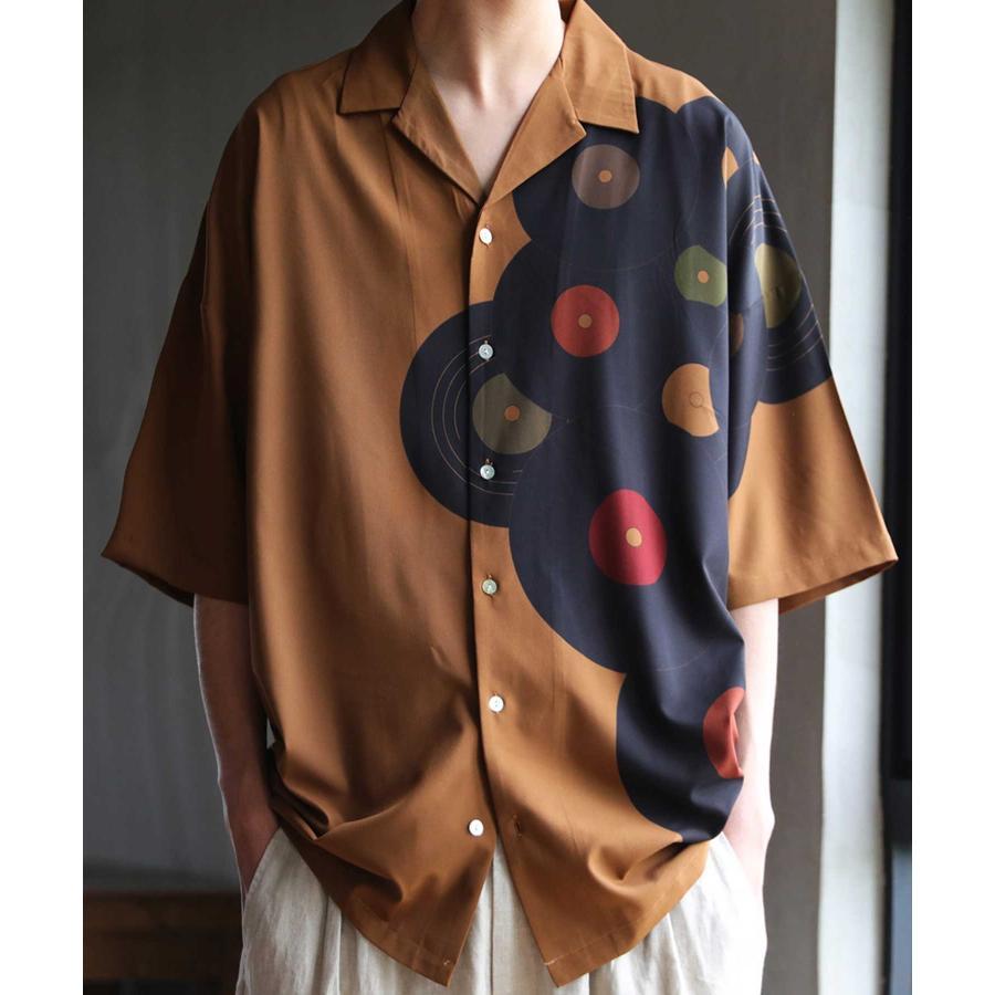 レコード柄開襟シャツ シャツ メンズ トップス 柄 送料無料・4月20日0時〜発売。メール便不可【MENS】|antiqua|23