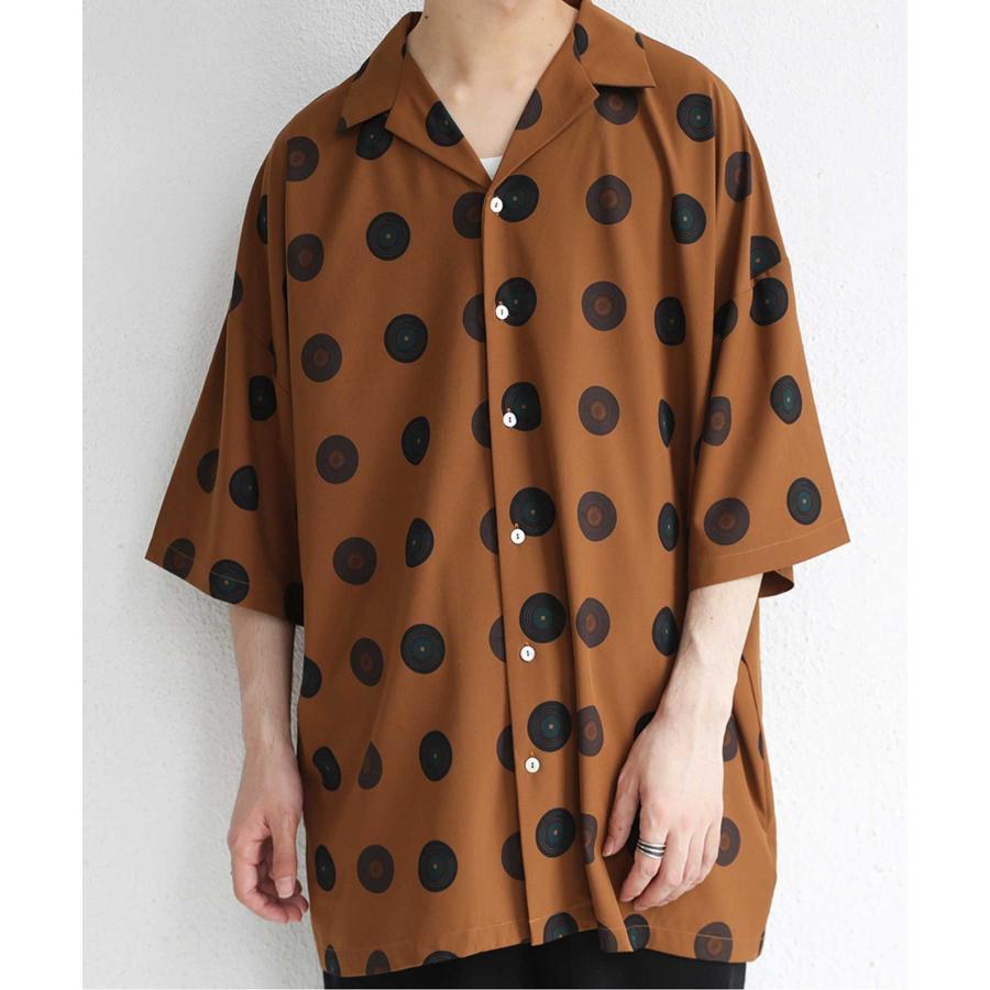 レコード柄開襟シャツ シャツ メンズ トップス 柄 送料無料・4月20日0時〜発売。メール便不可【MENS】|antiqua|28