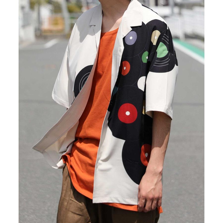 レコード柄開襟シャツ シャツ メンズ トップス 柄 送料無料・4月20日0時〜発売。メール便不可【MENS】|antiqua|22