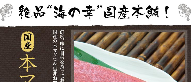"""絶品""""海の幸""""国産本鮪!"""