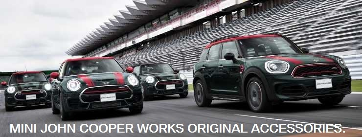 MINI JOHN COOPER WORKS ORIGINAL ACCESSORIES.