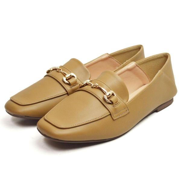 レディース ビットローファー フラット パンプス ローファー スクエアトゥ 痛くない 歩きやすい 履き易い フォーマル カジュアル キレイめ お洒落 大人 女性 靴|apricot-town|21