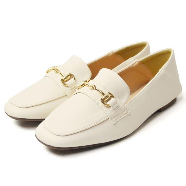 レディース ビットローファー フラット パンプス ローファー スクエアトゥ 痛くない 歩きやすい 履き易い フォーマル カジュアル キレイめ お洒落 大人 女性 靴|apricot-town|22