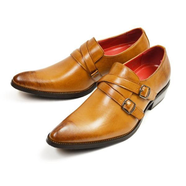 ビジネスシューズ 革靴 メンズ 2足セット SET 靴 メンズ ロングノーズ フォーマル ベルト モンクストラップ スリッポン 福袋 紳士靴 ビジネスシューズ|apricot-town|24