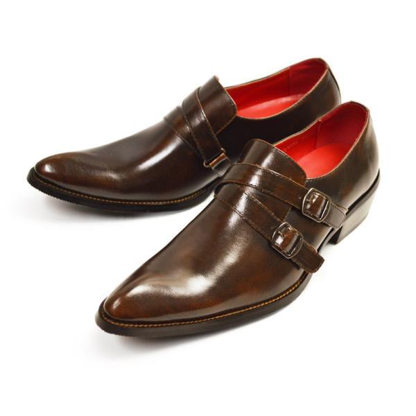 ビジネスシューズ 革靴 メンズ 2足セット SET 靴 メンズ ロングノーズ フォーマル ベルト モンクストラップ スリッポン 福袋 紳士靴 ビジネスシューズ|apricot-town|25
