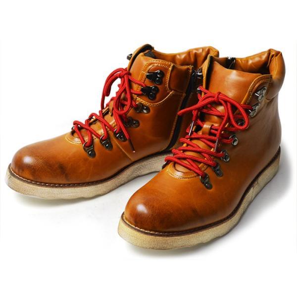 ワークブーツ マウンテンブーツ ブーツ メンズ ショートブーツ ヒールアップ インソール付き メンズブーツ シューズ 靴 2018 冬|apricot-town|18