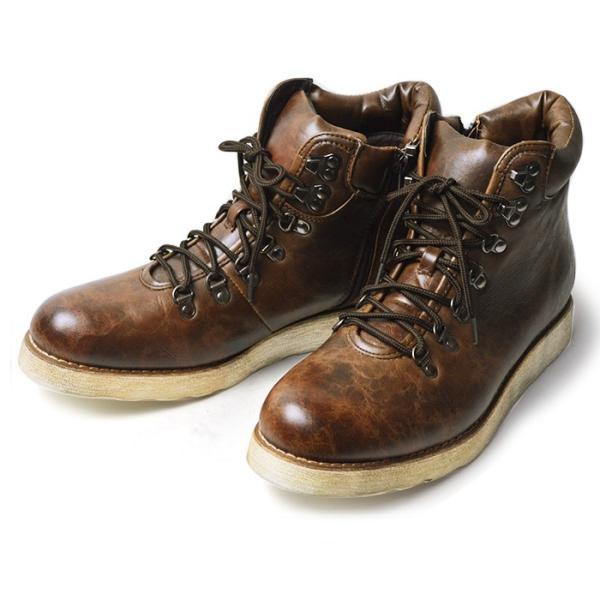 ワークブーツ マウンテンブーツ ブーツ メンズ ショートブーツ ヒールアップ インソール付き メンズブーツ シューズ 靴 2018 冬|apricot-town|19