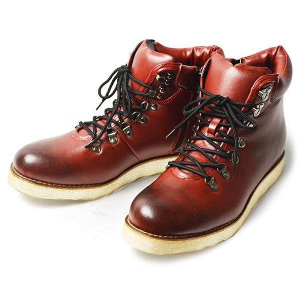 ワークブーツ マウンテンブーツ ブーツ メンズ ショートブーツ ヒールアップ インソール付き メンズブーツ シューズ 靴 2018 冬|apricot-town|20