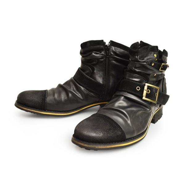 エンジニアブーツ メンズ ブーツ ショートブーツ ワークブーツ ドレープブーツ ライダース バイカーズブーツ ヴィンテージ 靴 メンズシューズ 2020 冬|apricot-town|22