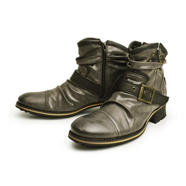 エンジニアブーツ メンズ ブーツ ショートブーツ ワークブーツ ドレープブーツ ライダース バイカーズブーツ ヴィンテージ 靴 メンズシューズ 2020 冬|apricot-town|24